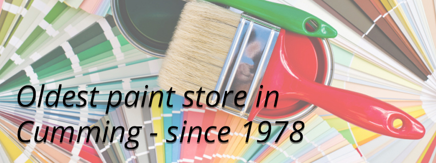 Oldest paint store in Cumming – complete line of paint, stains and supplies