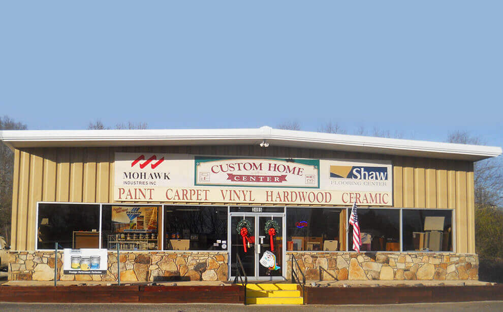 Visit our showroom in Cumming (to see name brands of carpet, hardwood flooring, tiles and paints)